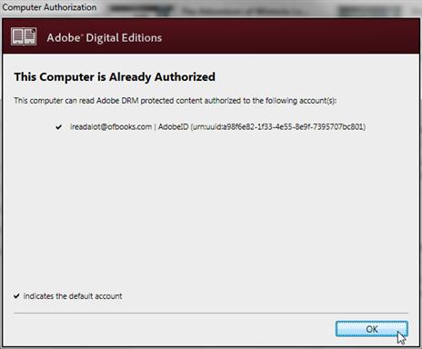 adobe digital editions ebook reader autorisieren
