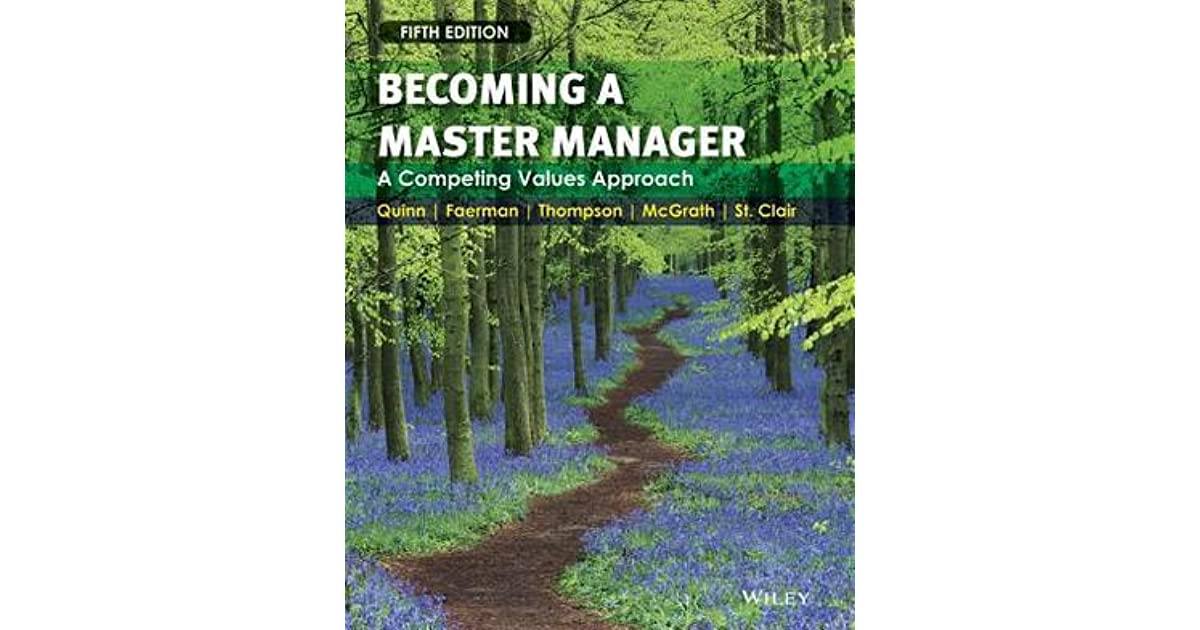 becoming a master manager a competing values approach ebook