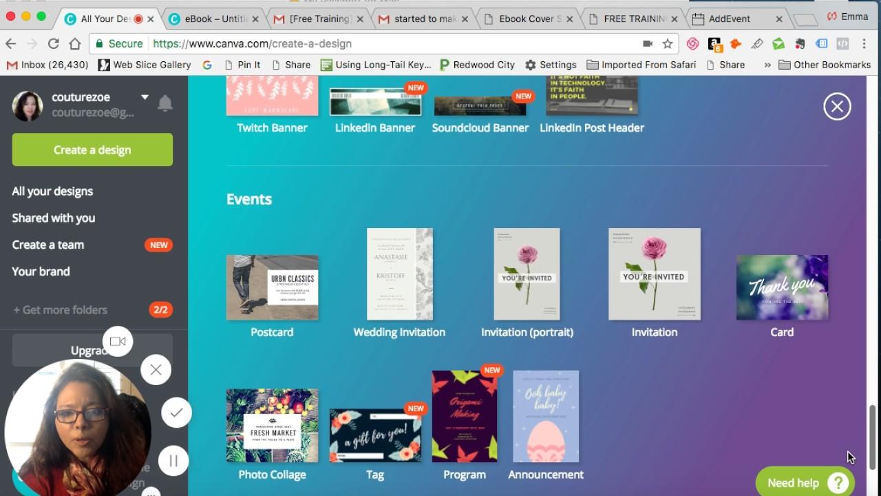 creating an ebook using canva