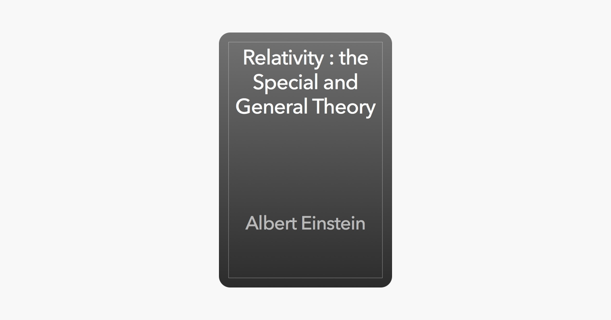 relativity the special and the general theory epub